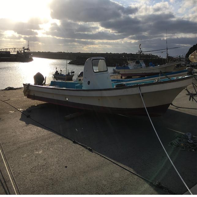 新潟村上船外機無し小型漁船販売